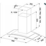 Coifa de Parede Glass Ray 90CM - Franke