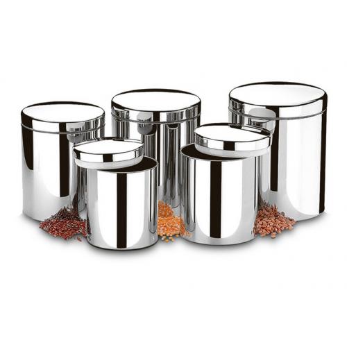 Conjunto de Potes para Mantimentos com Tampa 5 Peças