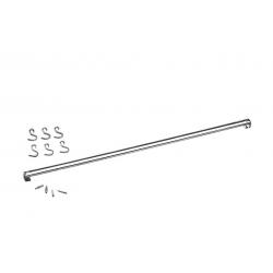 Barra Aço Inox com 6 Ganchos 80 cm