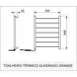 Toalheiro Térmico Elétrico Fixo Quadrado Crismoe - Inox - 110V