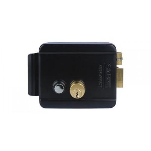 Fechadura Elétrica Com Botão ERL 202 Preta - La Fonte