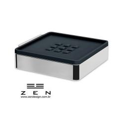 Saboneteira Fixa de Inox com acrílico - Spirit - Zen Design