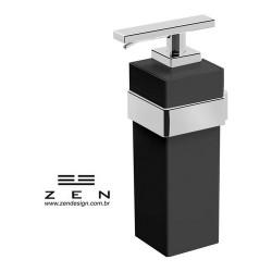 Saboneteira Liquida Fixa - Cromado com acrílico - Spirit - Zen Design