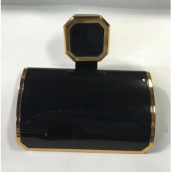 Papeleira  - Linha Exclusiva - Atrium/Incepa - Cor Onix com Dourado
