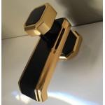 Torneira de Mesa Bica Baixa - Linha Exclusiva - Atrium/Incepa - Cor Onix com Dourado
