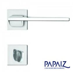 Fechadura banheiro 557 R205 MZ440 cromada Squadro  - PAPAIZ