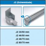 Conexão J2 - SP80 - Sekapiso - Aluminio  - Fosco