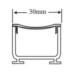 Grelha SP30 - 2,0 m - Sekapiso - Aluminio - Fosco