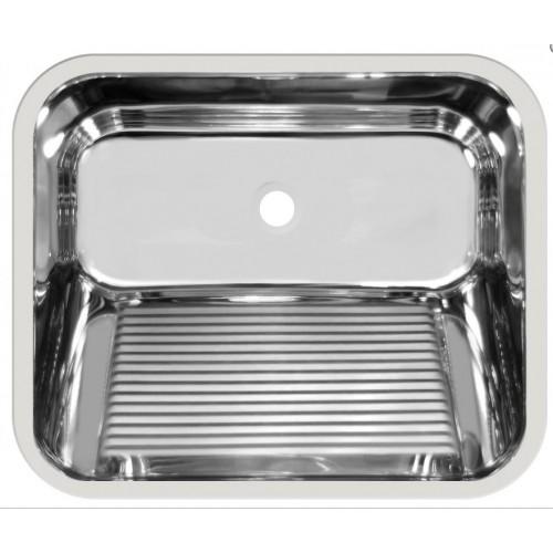 Tanque Inox 60x50x28,5cm  - Embutir  - Monobloco -  Strake