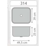 Cuba Molho Inox 50x40x20cm  - Embutir  - Monobloco -  Strake