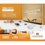 Veda Porta Adesivo Comfort Door 100cm Marrom Escuro