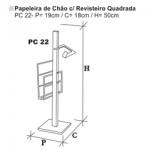 Papeleiro simples quadrado PC022 - CONY